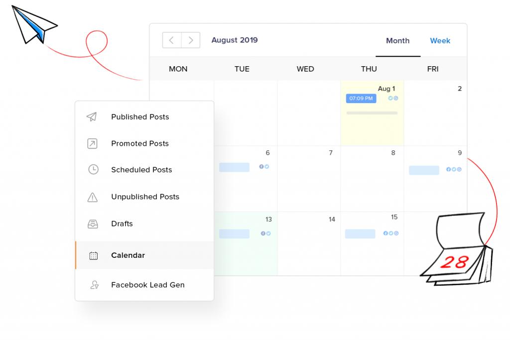 Zoho Social Calendar