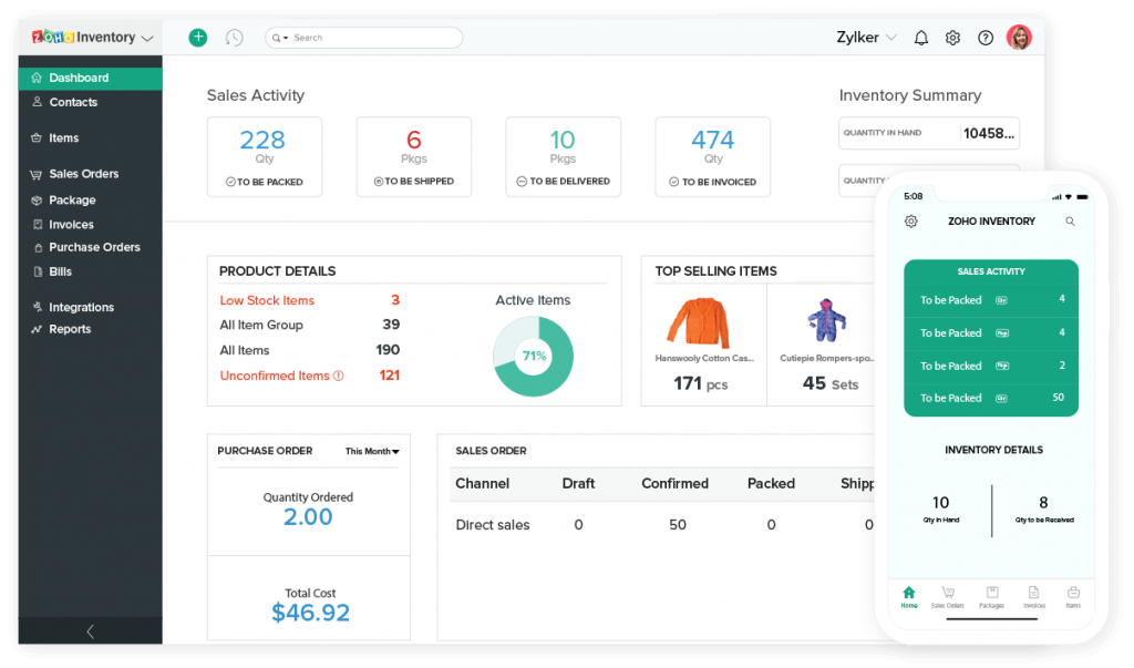 Zoho Inventory - Inventory Management Software