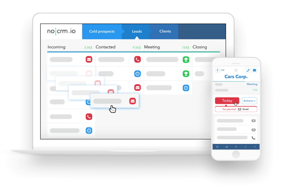 no CRM app - sales management tool